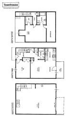 Apartment rental layout spacious living oversized closets for 2 story townhouse plans
