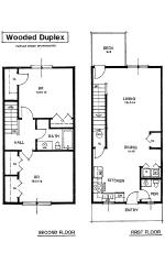 Apartment rental layout spacious living oversized closets for 2 story 2 bedroom apartment plans
