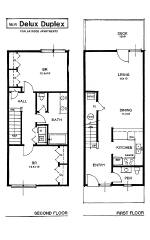 Apartment Rental Layout spacious living oversized closets patio Gray ...