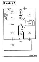 Standard 2 Bedroom Flat Apartment In Grey Tennessee